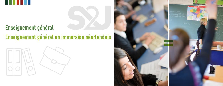 S2J, Centre d'enseignement libre Saint Sépulcre / Saint Joseph / Sainte Julienne : Enseignement général et enseignement général en immersion néerlandais.