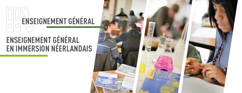 S2J, Centre d'enseignement libre Saint Sépulcre / Saint Joseph / Sainte Julienne : Enseignement général - Enseignement général en immersion néerlandais